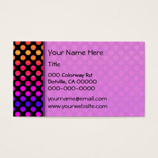 Multi-color Dots Business Card