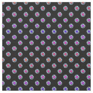 Multi-color Dots Chrome Edge Look Fabric