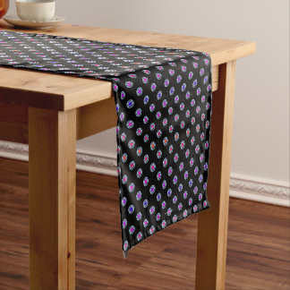 Multi-color Dots Chrome Edge Look Medium Table Runner