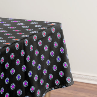 Multi-color Dots Chrome Edge Look Tablecloth