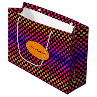 Multi-color Dots Large Gift Bag