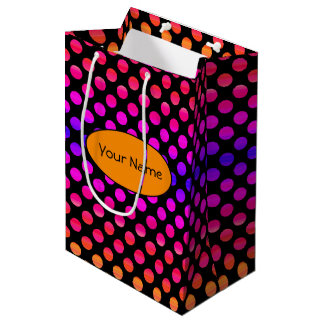 Multi-color Dots Medium Gift Bag