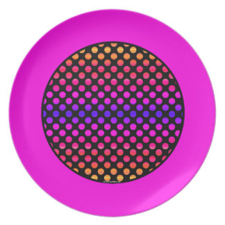 Multi-color Dots Plate