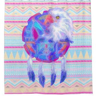 Multi-Color Eagle Shield Shower Curtain
