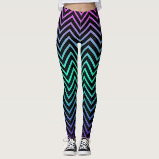 Multi-Color Fade Zigzag Leggings