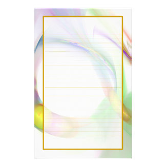 Multi Color Feather Rings Fine Lined Stationery