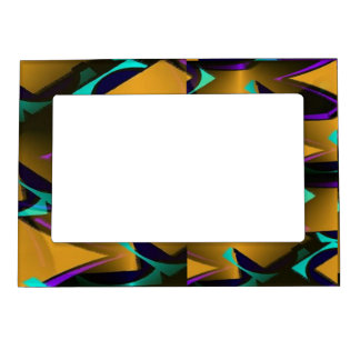Multi-Color Geometric Decorative Magnetic Frame