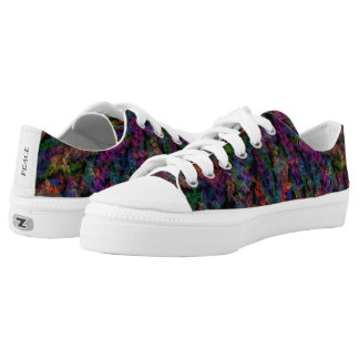 Multi Color Geometric Pattern Low Top Canvas Shoes