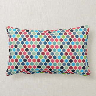 Multi-Color Geometric Pattern Lumbar Cushion