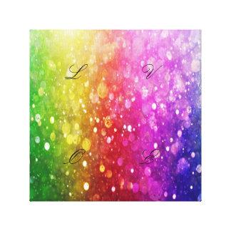 multi color,glitter,glam,chakra,fun,girly,trendy,o canvas print