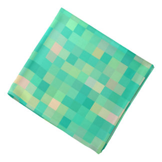 Multi-Color Green Pattern Pixel Art Bandana
