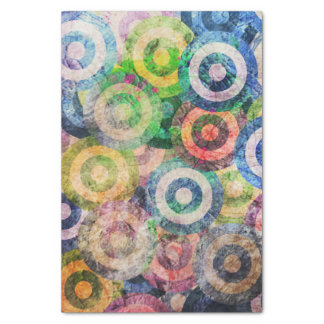 Multi Color Grunge Circles Pattern Tissue Paper