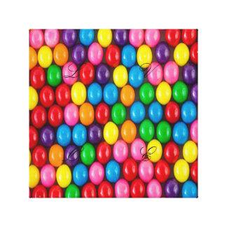 Multi color, gum, candy,big,fun,happy,girly,trendy canvas print