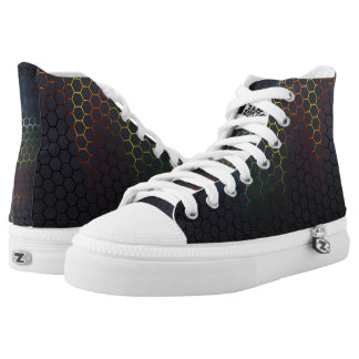 Multi color hexagons high tops