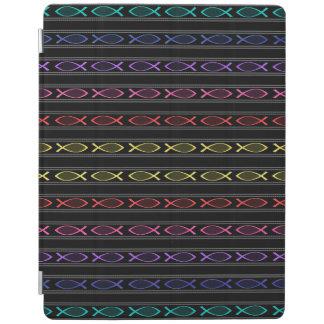 multi-color Jesus fish pattern iPad Cover
