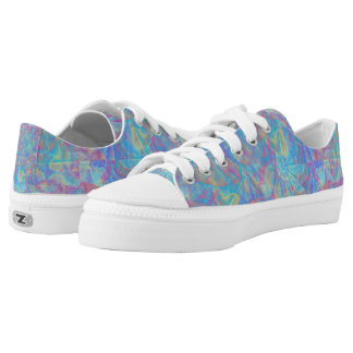 Multi color kaleidoscope printed shoes