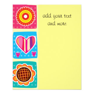 Multi color,kids,butterflies,sun,hearts,mariposa, 11.5 cm x 14 cm flyer