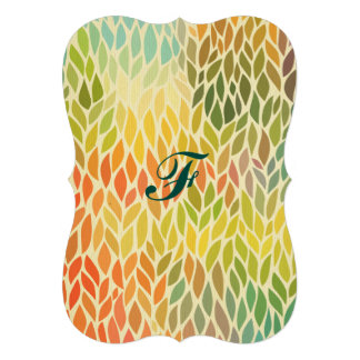 multi color leaf pattern,trendy,abstract art,hip 13 cm x 18 cm invitation card