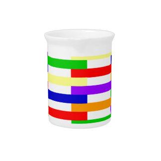 Multi-color Line Design Pitcher