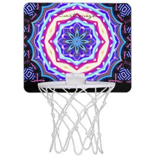 Multi-color mandala pattern Thunder_Cove Mini Basketball Hoop
