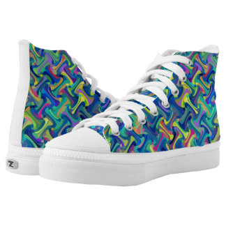 Multi-Color Pattern Printed Shoes