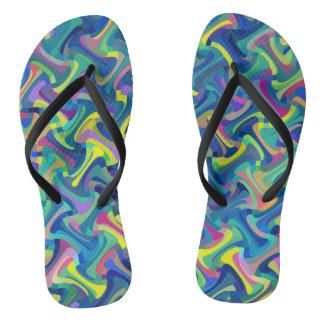 Multi-Color Pattern Thongs
