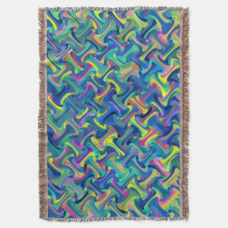 Multi-Color Pattern Throw Blanket