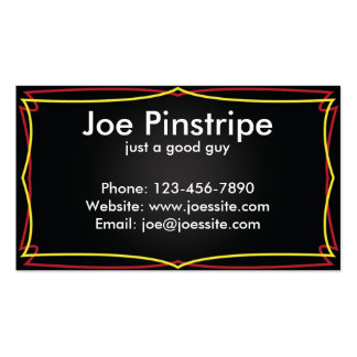 Multi Color Pinstripe Business Card