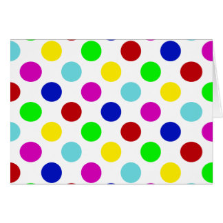 Multi Color Polka Dots Card