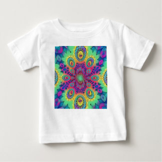 Multi-Color Psychedelic Love is Love Retro Pattern Baby T-Shirt