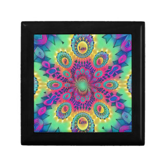 Multi-Color Psychedelic Love is Love Retro Pattern Gift Box