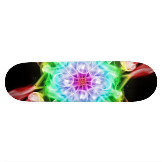 Multi-Color Smoke Rainbow Skateboard