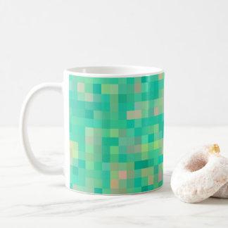 Multi-Color Square Pattern Coffee Mug