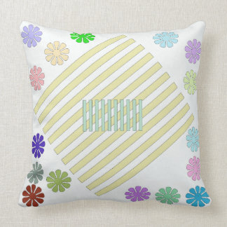 Multi-Color Square Throw Pillow