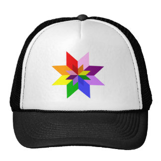 Multi-Color Star: Eight Point: Cap