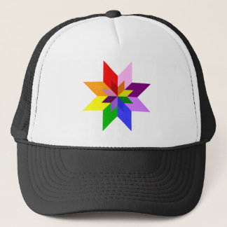 Multi-Color Star: Eight Point: Trucker Hat