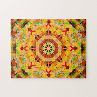 Multi-Color Star Shapes Mandala Jigsaw Puzzle