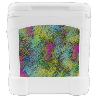 Multi-Color Stitches Rolling Cooler