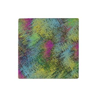 Multi-Color Stitches Stone Magnet