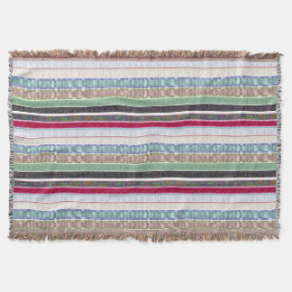 Multi Color Striped Throw Blanket