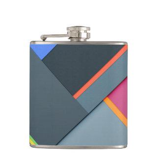 multi color structure hip flask