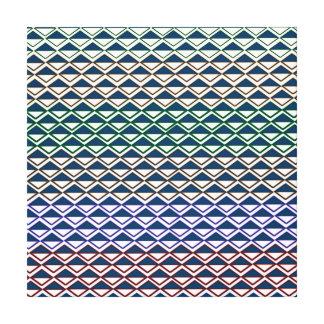 multi color triangle pattern fun girly modern fun canvas prints