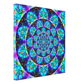Multi-Color Tunnel Mandala Canvas Print