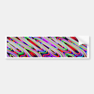 Multi Color Wave Abstract Pattern Bumper Sticker