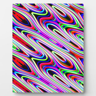 Multi Color Wave Abstract Pattern Plaque