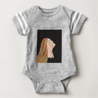 Multi-color Woman Baby Bodysuit