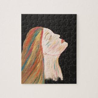 Multi-color Woman Jigsaw Puzzle