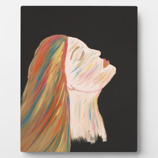 Multi-color Woman Plaque