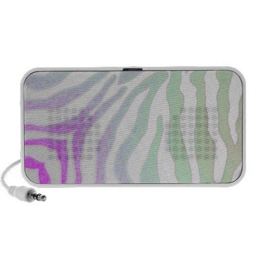 Multi Color Zebra Print Speakers