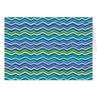 Multi Colored and Layered Chevron Greeting Card